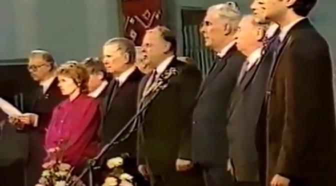 Афіцыйнае сьвяткаваньне 75-годзьдзя БНР у Менску – 1993 г. (відэа)