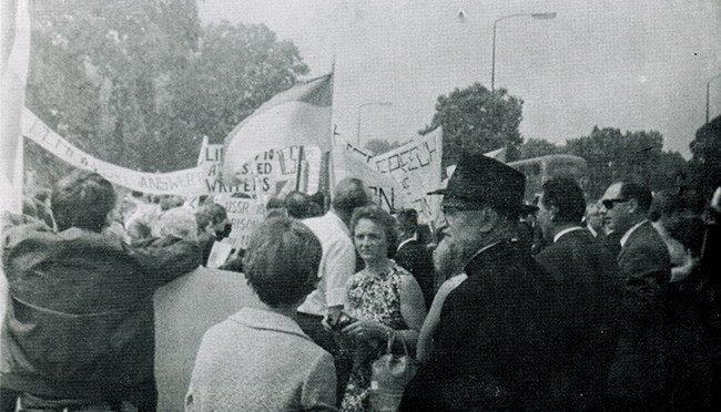 Беларусы пратэстуюць супраць савецкага нападу на Чэхаславаччыну – 1968 г.