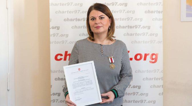 Натальля Радзіна ўзнагароджаная Мэдалём да 100-годзьдзя БНР