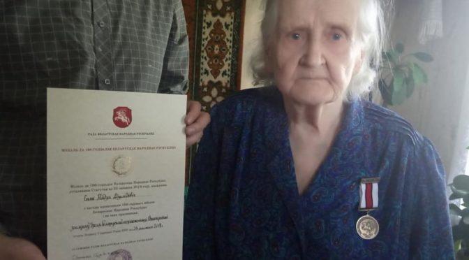 Мэдаль да стагодзьдзя БНР уручаны Надзеі Дземідовіч